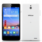 InFocus M512 Smartphone - 5 Inch IPS 1280x720 Screen, Android 4.4 Operating System, 4G, Quad Core 1.2GHz CPU, NFC, OTG (White)