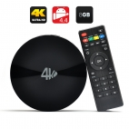 MBOX S82 8GB ROM TV Box - Quad Core 2GHz CPU, UHD (4Kx2K) Decoding, 2GB RAM, Dual Wi-Fi Band, Android 4.4 OS