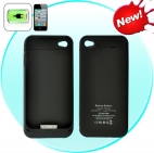 Slim iPhone Battery Case for iPhone 4 / 4S (1500mAh, Black)