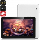 Venstar 2015 10.1 Inch Tablet PC - Android 4.4 OS, Dual Core CPU, 1GB RAM, 16GB Memory, OTG (White)