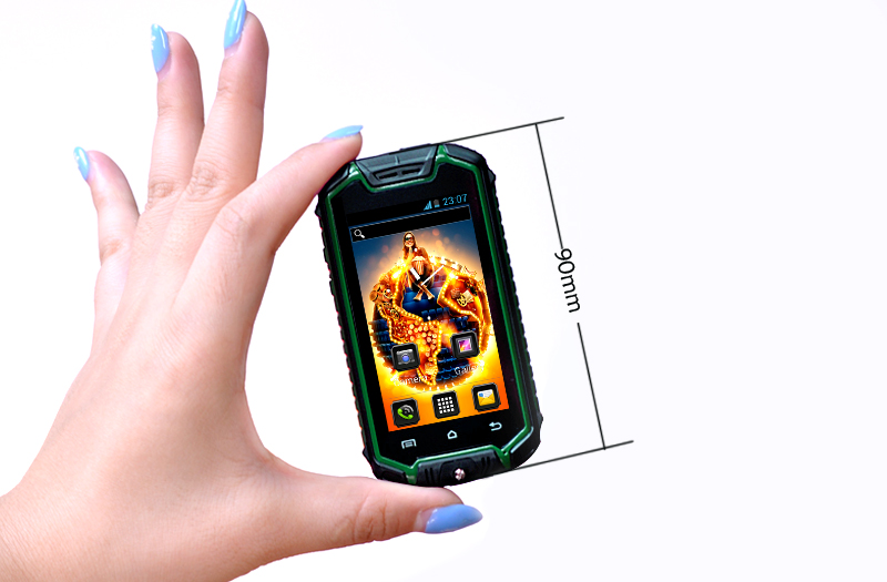 competitive price 50211 37641 2.4 Inch Small Rugged Smartphone with 2MP Rear Camera - Android 4.2 OS,  Earphones, Water Resistant (Green)