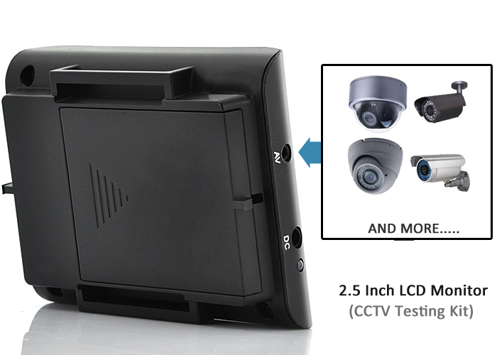 chinese 2 5 inch lcd monitor cctv testing kit. Black Bedroom Furniture Sets. Home Design Ideas