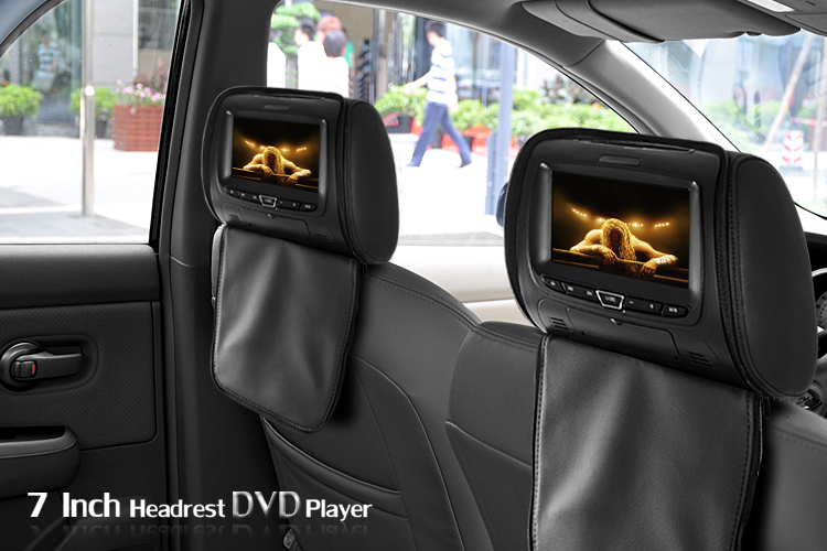 Chinese 7 Inch Headrest Monitor DVD Player Gaming System Black Pa