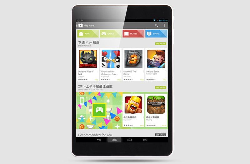 7 85 Inch Android 4 2 Tablet 'Volo' - 1024x768 Capacitive Touch Screen,  MT8382 Quad Core 1 2GHz CPU, 1GB DDR3 RAM