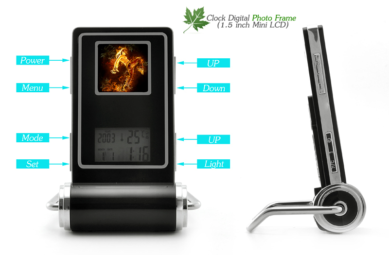 Chinese Clock Digital Photo Frame (1.5 inch Mini LCD)