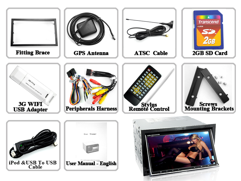 Wholesale 2din car dvd player car dvd player with atsc tv from china.