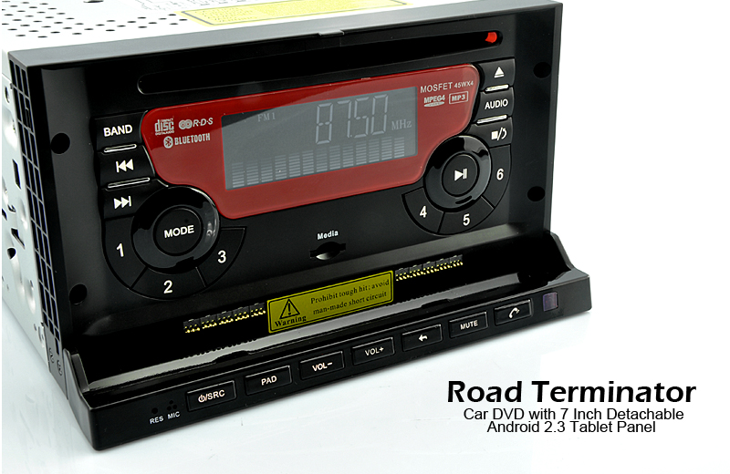 Chinese Road Terminator - Car DVD with 7 Inch Detachable