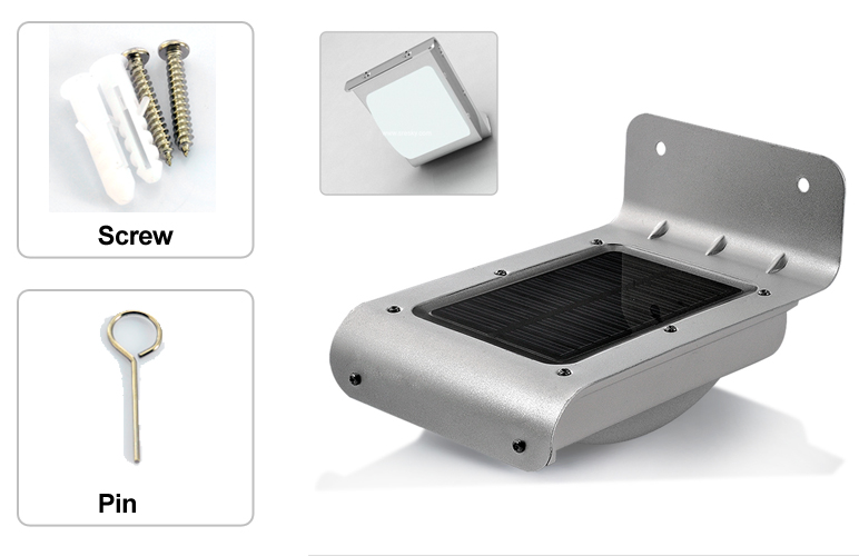 chinese solar powered outdoor security light motion detection 100
